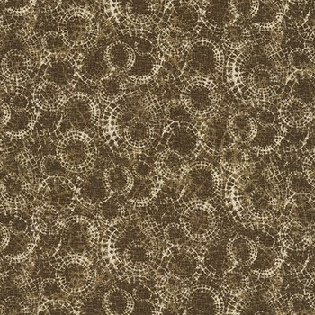Tissu Patchwork : style escargot ton de marron -