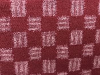 Tissu Patchwork : style carré rouge -