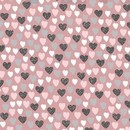 Consulter la fiche tissu patchwork : LOVELY HEARTS COEUR FOND ROSE