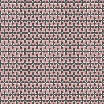Tissu Patchwork : LITTLE THINGS FOND ROSE ET GRIS -